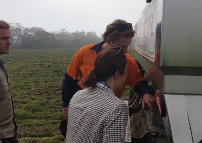 MP Shire ag officer looking at SoilKee